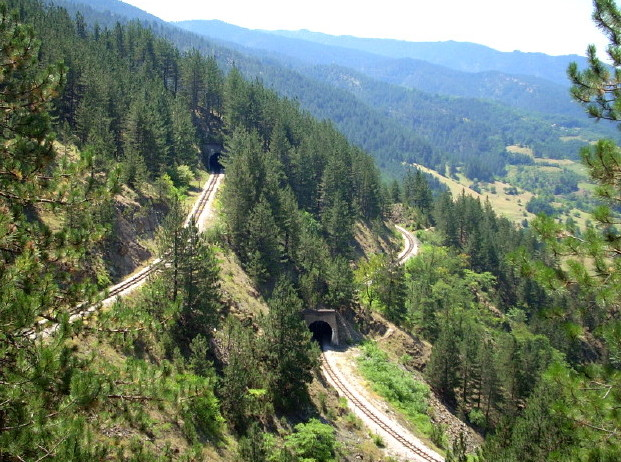 Slika 8 Sarganska osmica tuneli